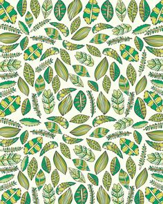 Tropical Greens by Pamela Gallegos on Artfully Walls