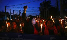 Nepalese women hold a candle lit rally in Kathmandu to protest against what they say is an increase in violence against women. They are dema...