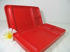Vintage Holiday Red TupperWare Trays Set of 4  Mid by DivineOrders, $23.00