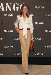 olivia Palermo .. like the camel wide leg pants