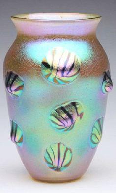 Loetz Leonidas Décor Art Glass Vase.
