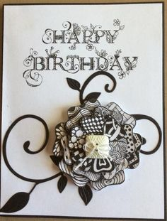 Tangled flower by Florence Mc - Cards and Paper Crafts at Splitcoaststampers
