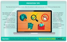 Infographic - Prevention Tips; Don't Fall Victim to an Internet Crime