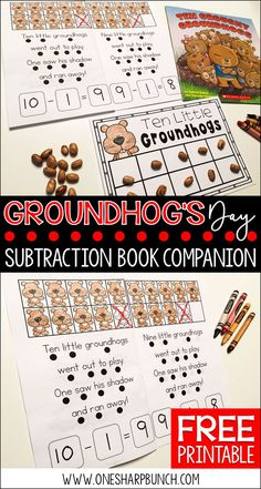 Looking for some great Groundhog's Day books and a variety of engaging Groundhog Day activities for the primary classroom? Head on over to grab a Groundhog Day FREEBIE perfect for the story Ten Grouchy Groundhogs! Kindergarten Groundhog Day, Groundhog Day Activities, Kindergarten Reading, Kindergarten Activities, Classroom Activities, Winter Activities, Counting Activities, Reading Activities, Kindergarten Classroom