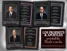LDS Prophets and Apostles Printable Flash Cards