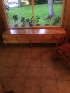 Window bench seat with extra storage. Made by Molly Keene