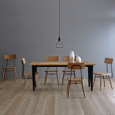 Design by Conran Suffolk Dining Set from JCPenney on Catalog Spree Dining Room Table Chairs, Modern Dining Room Tables, Dining Room Sets, Dining Room Design, Dining Room Furniture, Patio Table, Side Chairs, Dining Area, Dinning Set