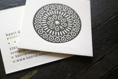 Some lovely square letterpress printed cards we made for the talented Kaori Drome.