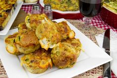 Action Packed Zucchini, Pepper and Smoked Provolone Muffins / @DJ Foodie / DJFoodie.com