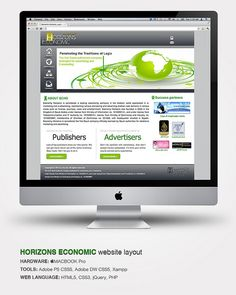 Horizons Economic website layout  HARDWARE: MACBOOK Pro  TOOLS: Adobe PS CSS5, Adobe DW CSS5, Xampp  WEB LANGUAGE: HTML5, CSS3, jQuery, PHP     DiscoverHow thousands of our people have picked WordPress  http://hbb6.com/WebSiteDesign