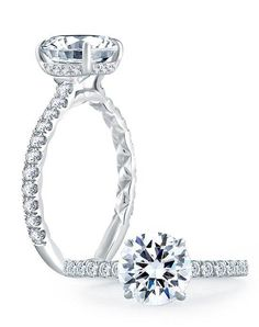 A.JAFFE engagement ring with round center in white gold I Style: ME1865Q I https://www.theknot.com/fashion/me1865q-ajaffe-engagement-ring?utm_source=pinterest.com&utm_medium=social&utm_content=june2016&utm_campaign=beauty-fashion&utm_simplereach=?sr_share=pinterest