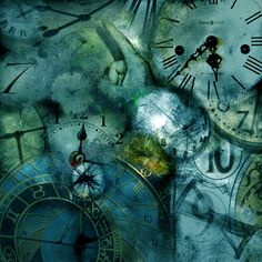 time-clocks ❤ liked on Polyvore featuring backgrounds, clocks, steampunk, blue, pictures and fillers