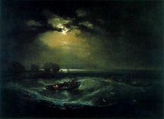 Pescadores en el Mar. Turner. Romanticismo. S. XIX.