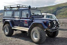 Land Rover Defender in Iceland