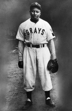Josh Gibson, catcher (and home run hitter) for the Negro league Pittsburgh Grays.