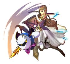 Brawl fan art - Zelda and Metaknight - #Kirby #SmashBros