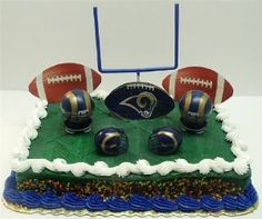 Amazon.com: NFL Football St. Louis Rams Birthday Cake Topper Set ...