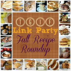 TGIF Link Party Fall Recipe Roundup! 20 awesome recipes perfect for fall!