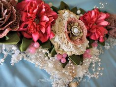 My new learning : Royal curtain tie back Curtain Tie Backs, Floral Wreath, Creativity, Passion, Curtains, Learning, Sewing, Blog, Crafts