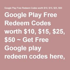 free real $50 free google play gift card | My Style | Pinterest ...