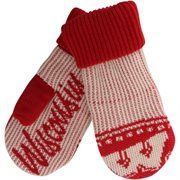 Wisconsin Badgers adidas Knit Mittens – Red