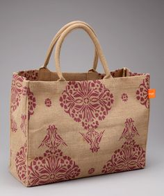 Take a look at this Berry Indian Jute Market Tote by Bring It on #zulily today!  A Titus Women possibility?!?!?!