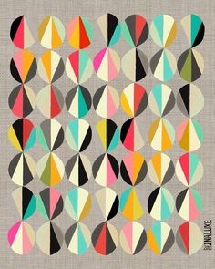 The repetition of pattern combined with color variance creates an asymmetrical…