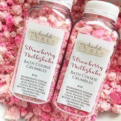 Cocoa Butter, Shea Butter, Kids Spa, Bath Bomb Recipes, Strawberry Milkshake, Natural Cosmetics, Diy Beauty, Beauty Box, Bath Salts