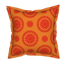 Serama Throw Pillow featuring Orange Petals by Cheerful Madness!! by cheerfulmadness_cartoons | Roostery Home Decor