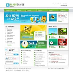 Flash Games Website Templates by Cotton