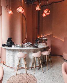 Home Decoration Design Ideas Code: 6490369364 Schönheitssalon Design, Design Retro, Bar Interior Design, Restaurant Interior Design, Commercial Interior Design, Cafe Interior, Cafe Design, Commercial Interiors, Vintage Design