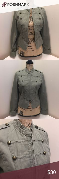 Lauren Conrad Olive Green Light Jacket Size Small This is a Lauren Conrad Olive Green Light Jacket Size Small. In good pre-owned condition! This jacket is very unique looking! Is a bit short, but would be perfect to throw over a light shirt on a slightly cool day or night. LC Lauren Conrad Jackets & Coats Jean Jackets