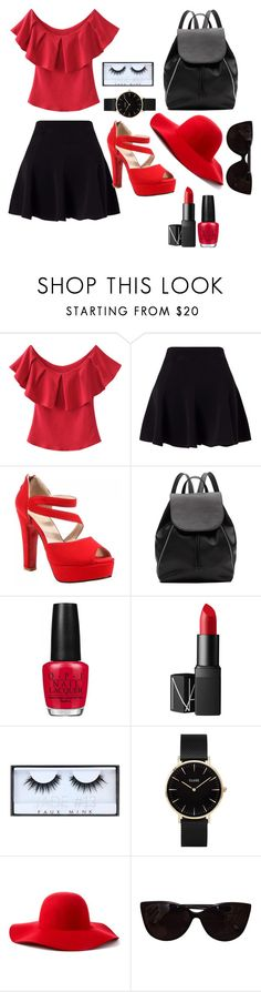 """""""Untitled #1"""" by jovanaj-1 ❤ liked on Polyvore featuring Miss Selfridge, Witchery, OPI, NARS Cosmetics, Huda Beauty, CLUSE, Scala and Tiffany & Co."""