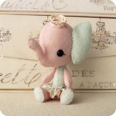 Circus Stuffling PDF Pattern  Elephant  Instant by Gingermelon, $6.50