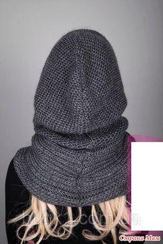 . Спасибо за помощь. Практически разобралась! - В.Г.У. - Вязаные Головные Уборы - Страна Мам Hooded Scarf Pattern, Crochet Hooded Scarf, Knit Vest Pattern, Knit Crochet, Crochet Hats, Hooded Vest, Baby Hats Knitting, Loom Knitting, Free Knitting