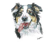 Original Colored Pencil 11x14 Pet Portrait - Pick a city: Amazon Local