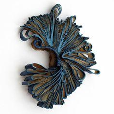 SCHMUCK 2016 selectees, on show at the Handwerksmesse during #munichjewelleryweek / Flora Vagi #contemporaryjewellery #paper #schmuck2016
