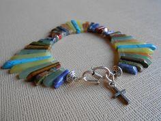 Out of Egypt - mutli-colored gemstone Christian bracelet, $25