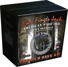 "BULLDOG FOUR FINGER JACK (ABV 4.6%) 40 PINT AMERICAN PALE ALE KIT. A highly aromatic beer, bursting with citrus, fruit and pine aromas – a ""true craft beer"" with a generous dose of hops and a fine selection of malts."