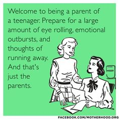 Welcome to parenting of a teenager