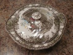 Vintage Johnson Brothers Friendly Village Covered Vegetable Lidded Dish England