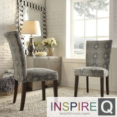 Inspire Q Parson Medallion Floral Fabric Side Chairs (Set of 2) | Overstock.com Shopping - Great Deals on INSPIRE Q Dining Chairs