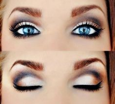 Make up to make those blue eyes pop! I'm always looking to enhance my blue eyes with the right eye make up. All Things Beauty, Beauty Make Up, Hair Beauty, Women's Beauty, Bridal Beauty, Beauty Room, Beauty Style, Girly Things, Purple Eye Makeup