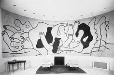 Fernand Léger Les Plongeurs (1942). Home of Wallace K. Harrison.