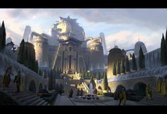 ArtStation - Palace of a Thousand Falls, Pace Wilder