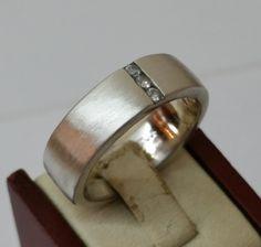 Vintage Ringe - Silberring 925 matt mit 3 Kristallsteinchen SR152 - ein…