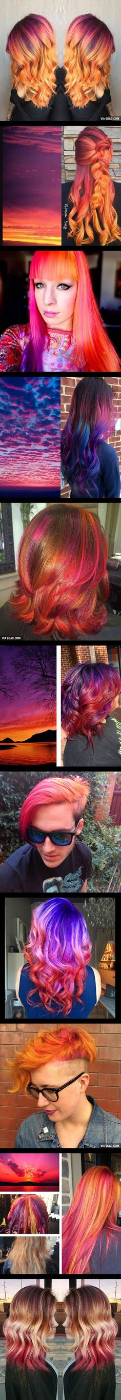 People Are Dyeing Their Hair To Match The Sunset And It's Breathtaking