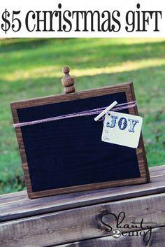 DIY Christmas Gift - $5 Chalkboards!!