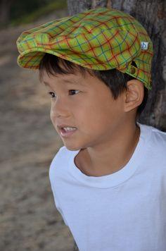 4429cb70 Flat Cap, Newsboy Cap, Driving Cap, Golfing Cap, Children's hat, Kids Cap:  Landon wears the JoJo flat cap from Henry Hats of Hawaii