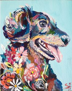 Commission an artist to draw, paint, or sculpt your precious creature. Be sure to supply your artist with lots of photos! Art And Illustration, Illustrations, Kunst Inspo, Art Inspo, Posca Art, Arte Pop, Dog Portraits, Animal Paintings, Dog Art